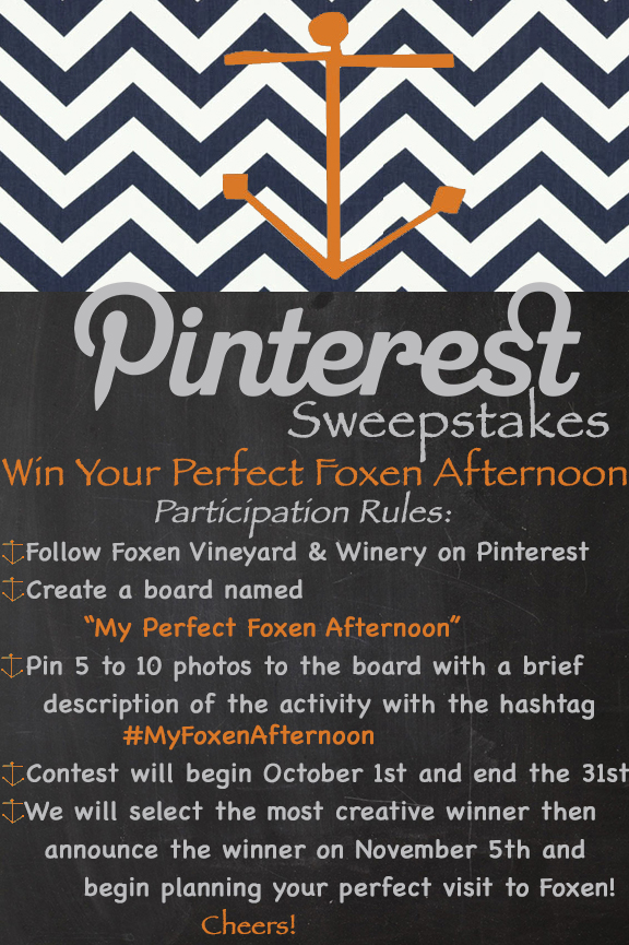 Foxen Pinterest Sweepstakes